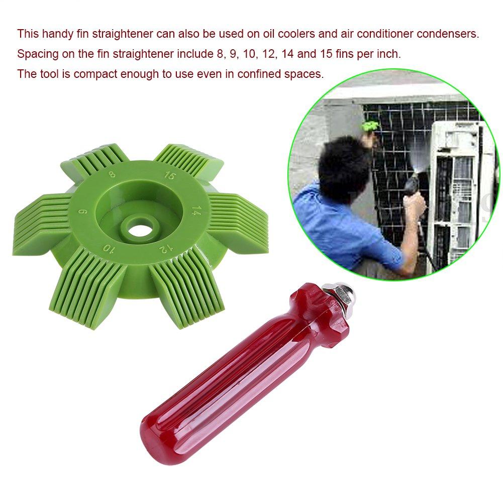 Fdit Rejilla para Radiador Peine de Aletas para Coche Refrigeración Aire Acondicionado Condensador Enfriamiento Cepillo Aleta Peine Evaporador Enfriador: ...