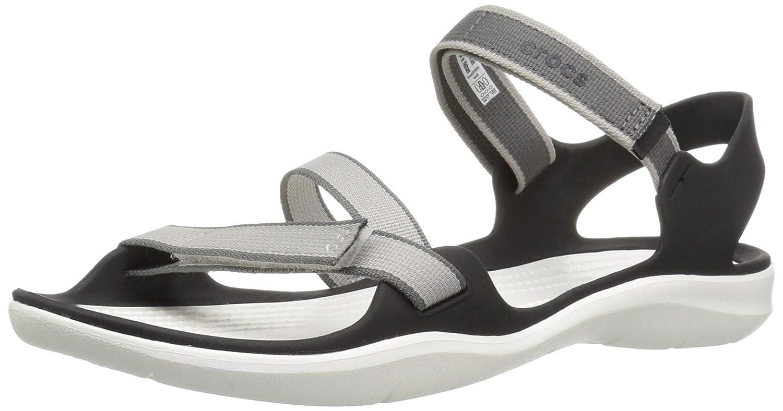 Crocs Woman Swiftwater Webbing Sandal Black White