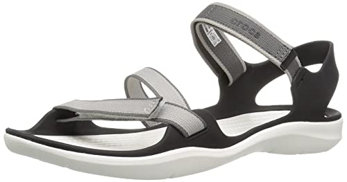 Crocs Women s Swiftwater Webbing W Flat Sandal Sandals & Floaters at amazon