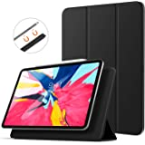 TiMOVO Case Fit iPad PRO 11, Magnetic Absorption Cover Light Weight Smart Case, with 360 Degree Rotating Stand, Auto Wake/Sleep Function, Compatible with Apple iPad PRO 11 2018 Tablet, Black