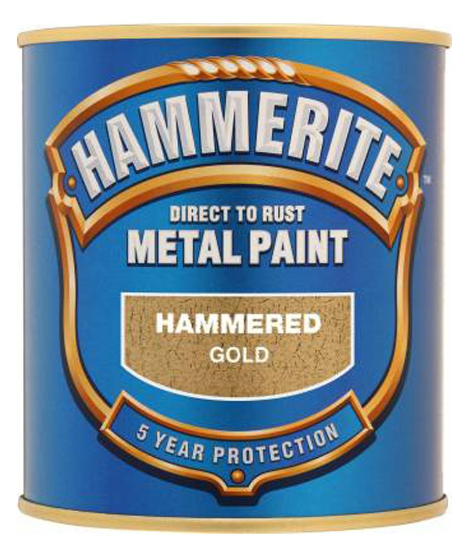 Hammerite 5084818 Metal Paint: Hammered Gold 250ml Hammerite Products ICI Ltd.
