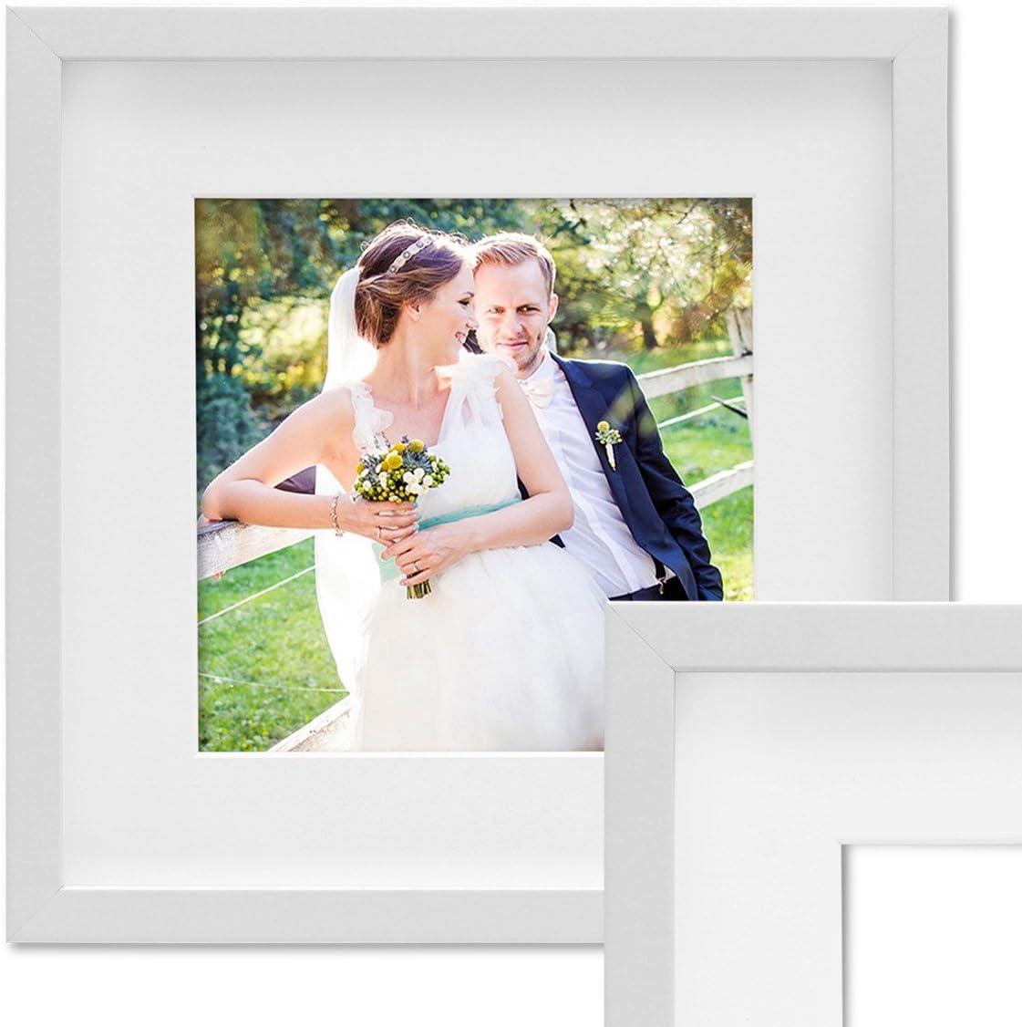 PHOTOLINI 3D-Bilderrahmen 30x30cm, Weiß