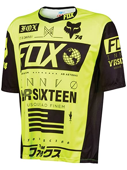 Fox Racing Demo Bike Jersey - Short Sleeve - Mens Union Flo Yellow, ...