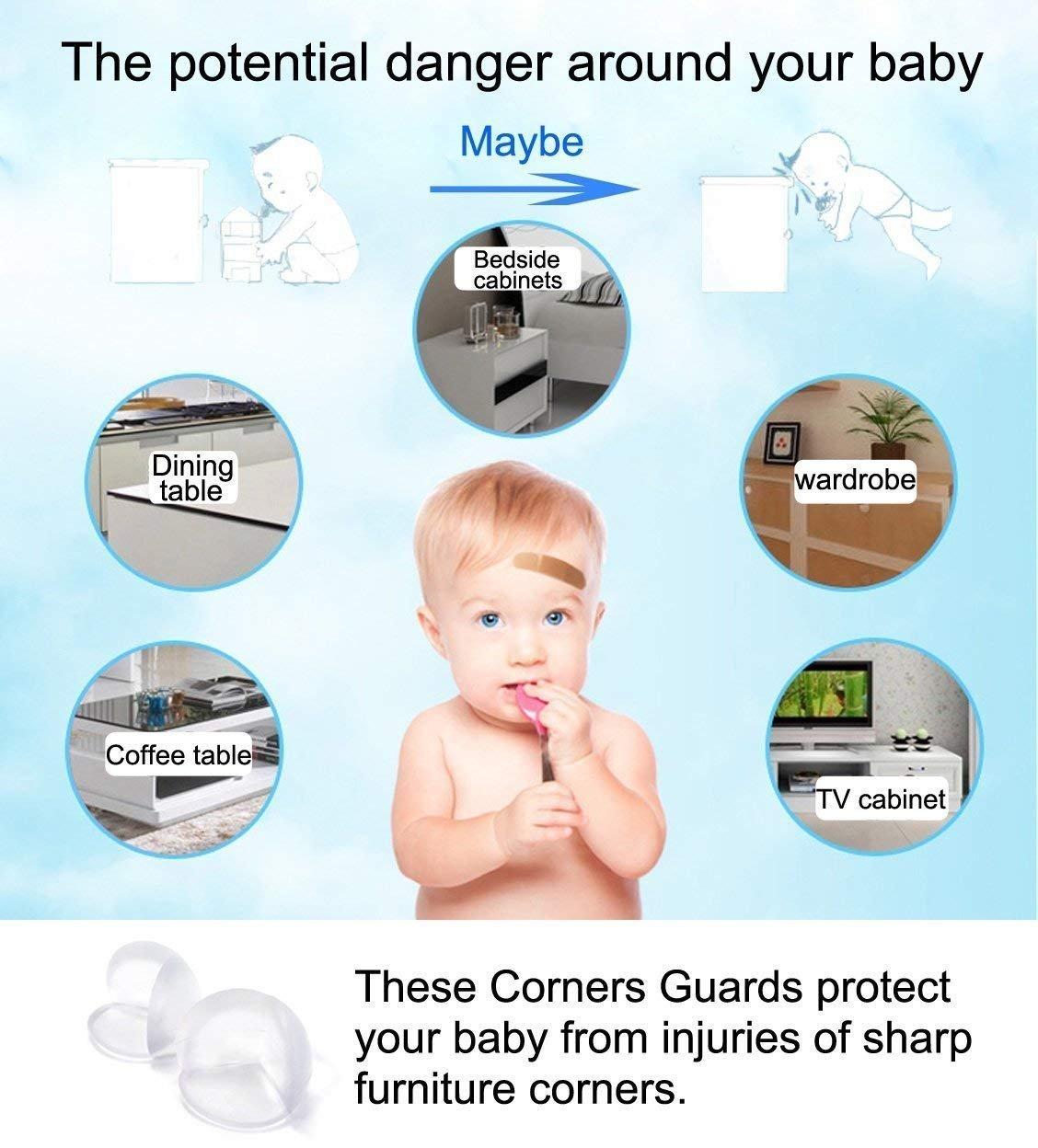 Safety Kantenschutz Eckenschutz Silikon Baby Sicherheit Baby Neu 100% Wahr 7 Pack X 4 St