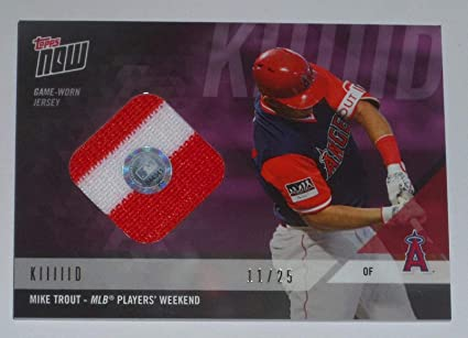 brand new 9dbc4 94178 Mike Trout 2018 Topps Now Game Used Angels Mlb Players ...