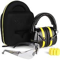 TRADESMART Shooting Ear Muffs, Protective Case, Gun Safety Glasses & Earplugs