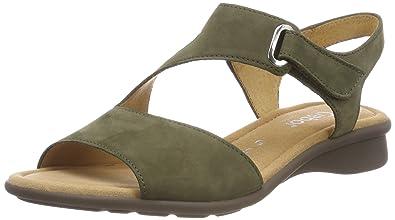 Gabor Shoes Damen Comfort Basic Riemchensandalen, Grün (Salvia), 36 EU 67400e4216