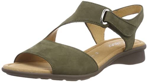211071f1554b4 Gabor Shoes Women's Comfort Basic Ankle Strap Sandals, Green (Salvia), 3.5  UK
