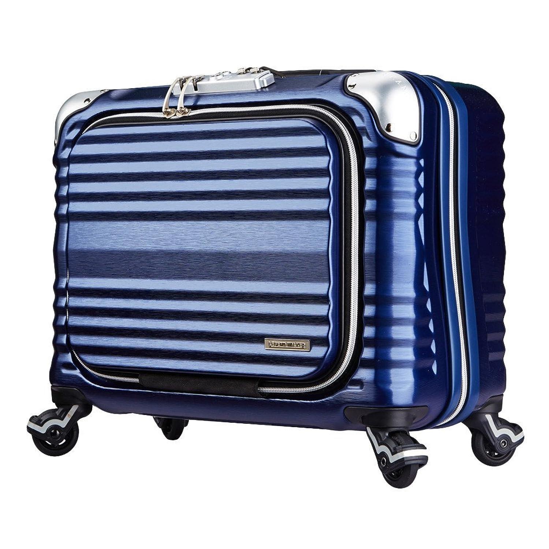LEGEND WALKER PREMIUM GRAND BLADE ブレイド ビジネスキャリー スーツケース ハードケース フロントオープン 4輪 TSAロック 34L 機内持込可 6606-44 B01GPWPG4Gネイビー