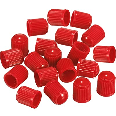 Outus 20 Pack Tyre Valve Dust Caps for Car, Motorbike, Trucks, Bike, Bicycle (Red): Automotive [5Bkhe1008501]
