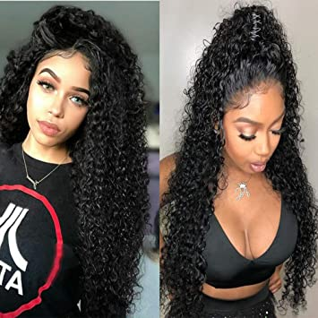 really cheap best deals on catch FASHION PLUS Curly Full Lace Wigs Human Hair With Baby Hair Brazilian Human  Hair Wig Natural...