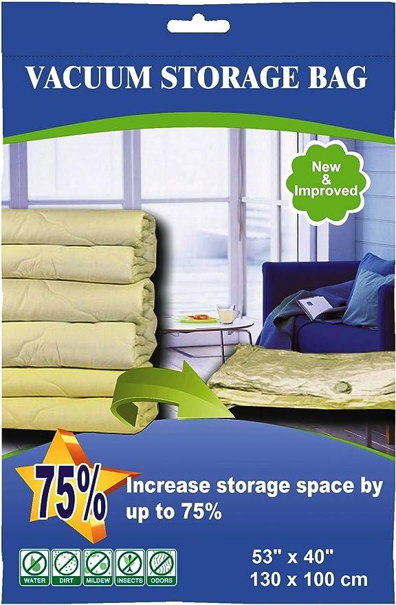 1X 6PCS 90x130cm Large Vacuum Vacum Storage Saving Space Seal Bag Home Orga O8L7