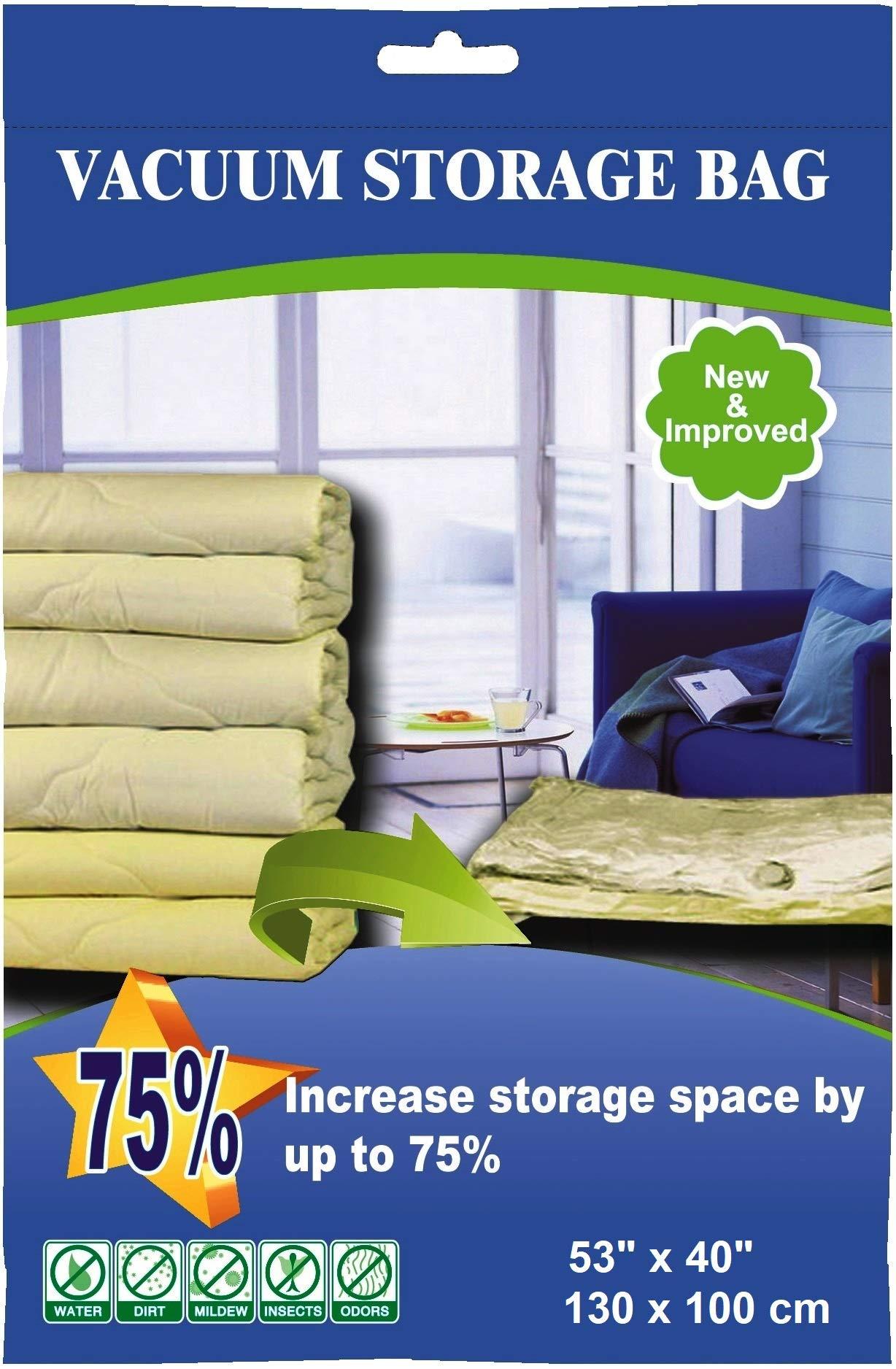 50 Pack 130cmX100cm Jumbo Space Saver Vacuum Storage Bag at Wholesaler for Storage Organization by istoragebag