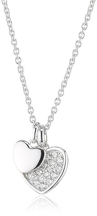 Fabrik authentisch besondere Auswahl an neue Kollektion Fossil Damen Halskette 925 Sterling Silber Zirkonia weiß JFS001960