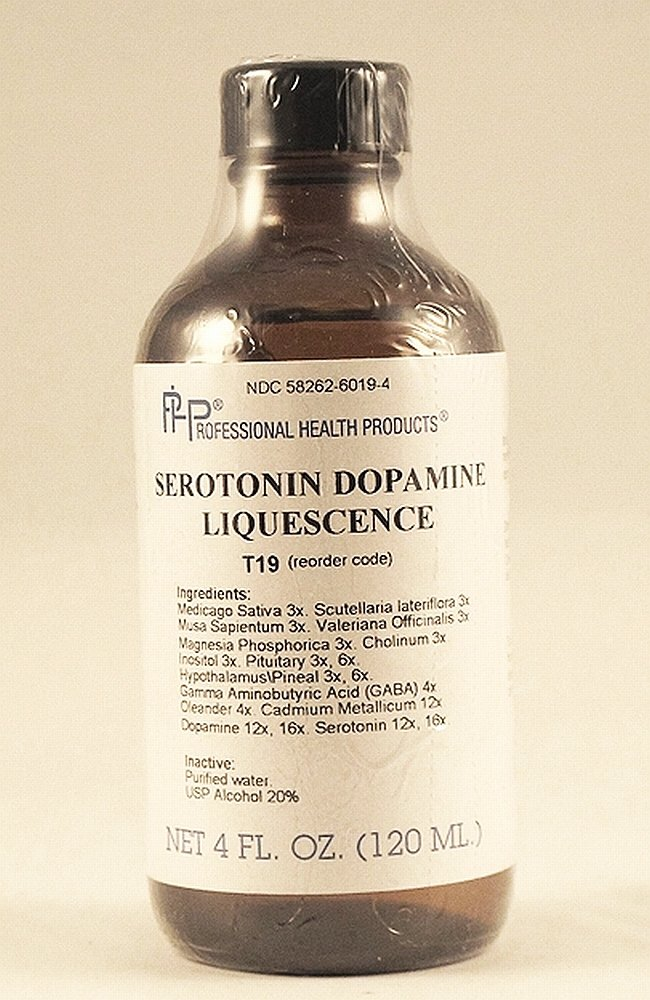 Homeopathic Serotonin Dopamine Liquescence, Mood Support, Depression, 4 Oz. by Serotonin Dopamine Liquescence