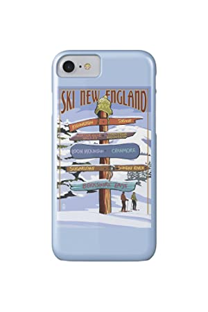 New England - Ski Areas Destinations Sign (iPhone 7 Cell ...