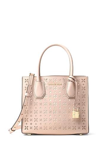 826f52eaf6fe MICHAEL Michael Kors Mercer Perforated Leather Crossbody Bag - Soft Pink