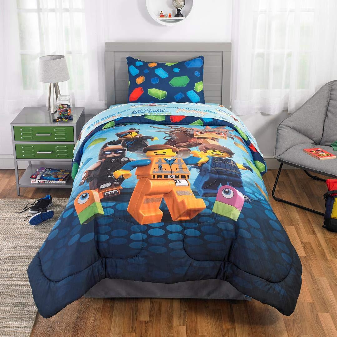 LEGO Movie 2 Boys Twin Single Comforter, Sheets & Bonus Sham (5 Piece Bedding) + Homemade Wax Melts