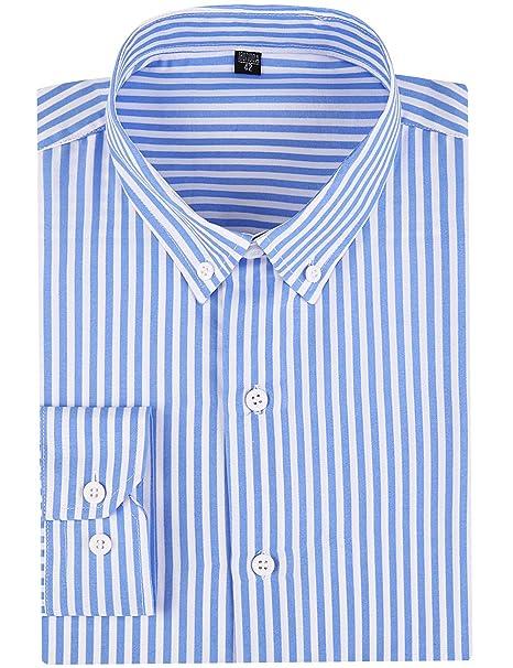 Amazon.com: DOKKIA - Camisas de vestir para hombre, estilo ...