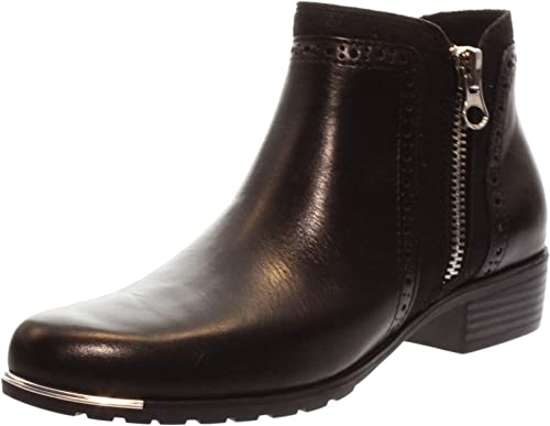 Caprice Womens Kelli Black Leather