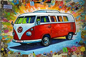Sweepstakes: Easy Planet The Bus Canvas Wall Art (16 x 24 inches The...