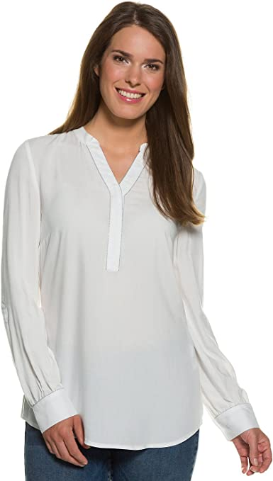 TALLA XL. GINA LAURA Tunika Mit Schmuckelementen Am Ausschnitt Blusa para Mujer