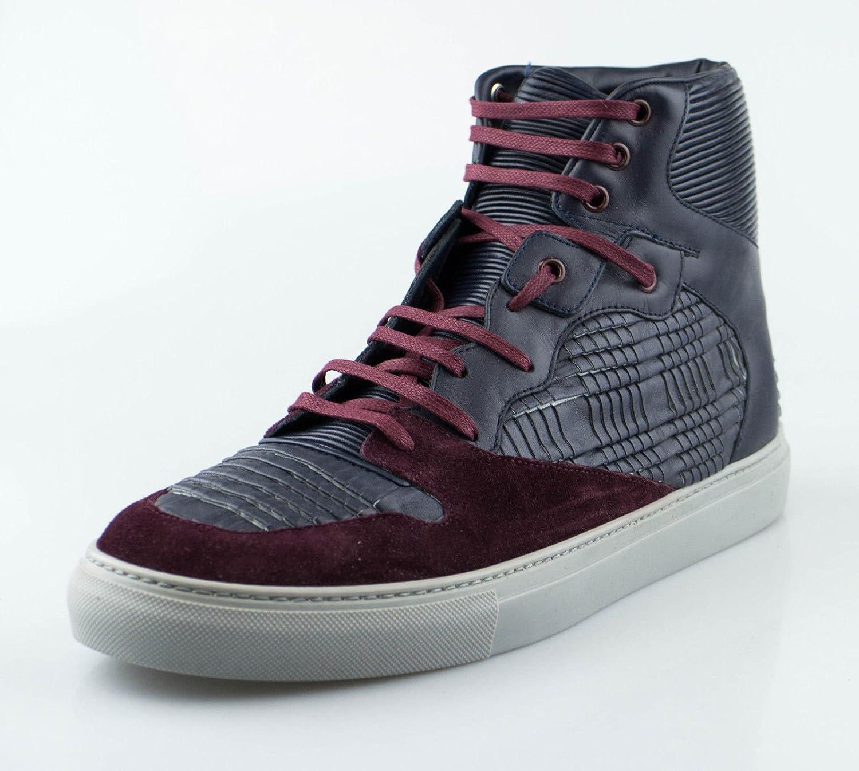 3af7a5c2b6d Amazon.com : BALENCIAGA Blue Leather High-Top Fashion Sneakers Shoes 12 US  45 EU : Sports & Outdoors