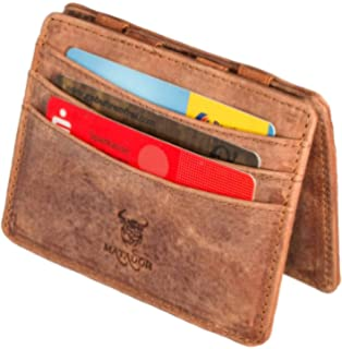c380f0e5675c1 MATADOR Magic Wallet Schmale Geldbörse Herren RFID Schutz Geldbeutel  Portemonnaie ECHT Leder Braun
