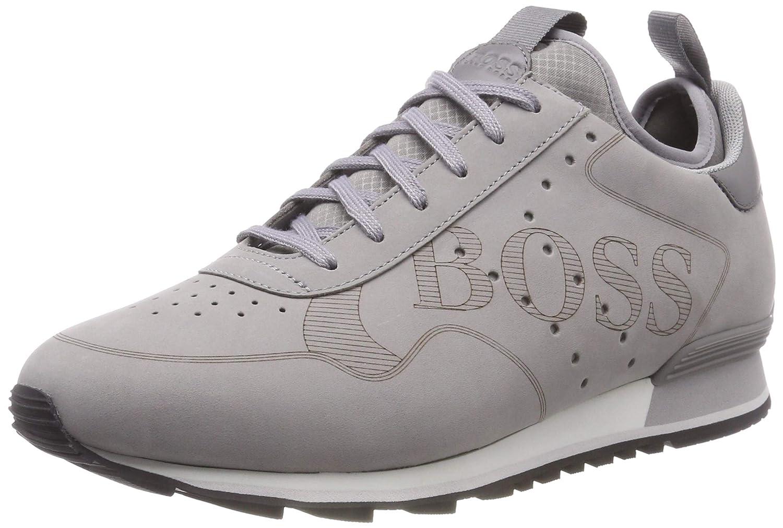 Grå (Medium grå 030) BOSS Män    8217s; Parkour u springaaan u logo Low -Top skor  lagra på nätet
