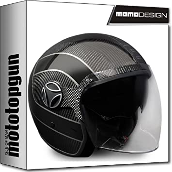 MOMO-DESIGN CASCO MOTO ARROW CARBONO OUTLINE GRIS ML
