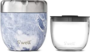 S'well Stainless Steel Bowls Triple-Layered Vacuum-Insulated Containers Keeps Food and Drinks Cold for 12 Hours and Hot for 7 - with No Condensation - BPA Free, 16oz, Blue Granite