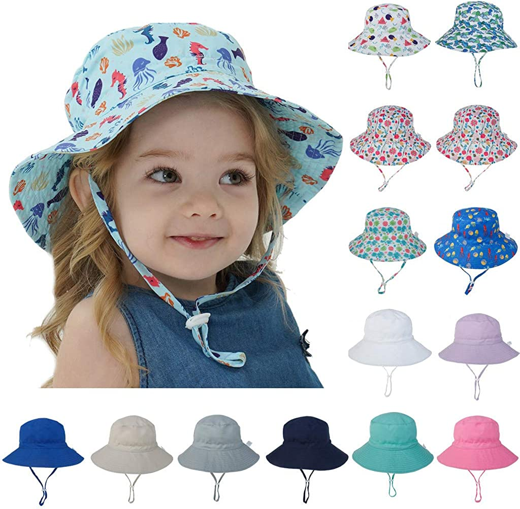 Durio Baby Girl Sun Hat UPF 50 Cute Baby Sun Hat Summer Beach Baby Girl Hats Sun Protection Toddler Infant Sun Hat