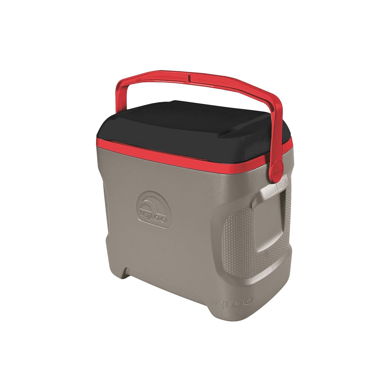 Igloo 49655 Contour 30, Sandstone/Black/Blaze Red, 30 Qt./28 Large/41 Cans