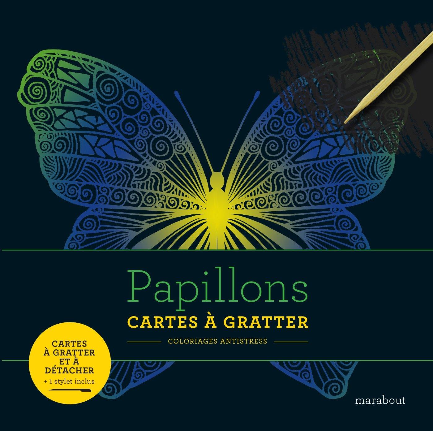 Coloriage Licorne Cultura.Amazon Fr Livre A Gratter Papillons Collectif Livres