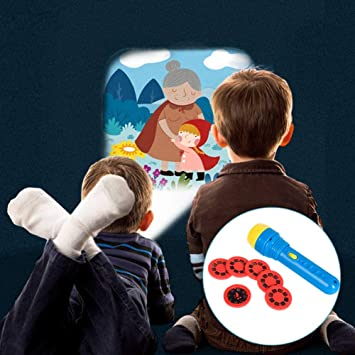SEALEN Niños Sleep Story Projector Torch, 6 Stories 48 ...
