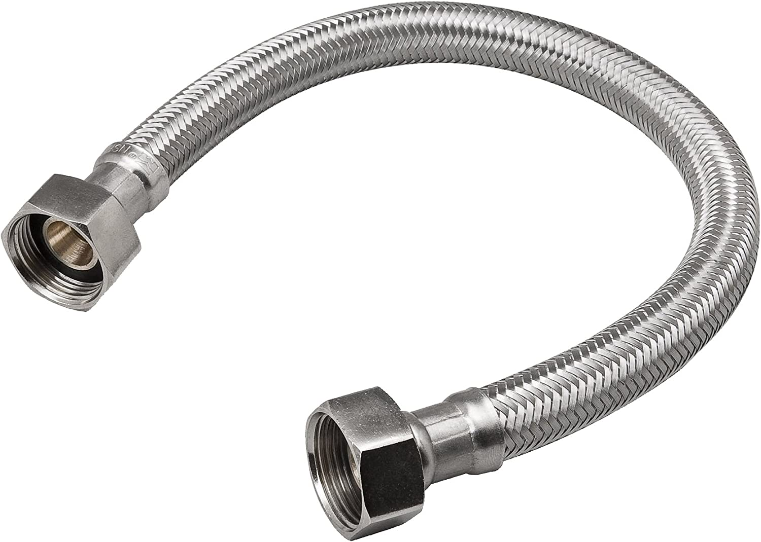 B and K Industries 496-218 3//4 X 24 Braided SS Supply Connector//Water Heaters