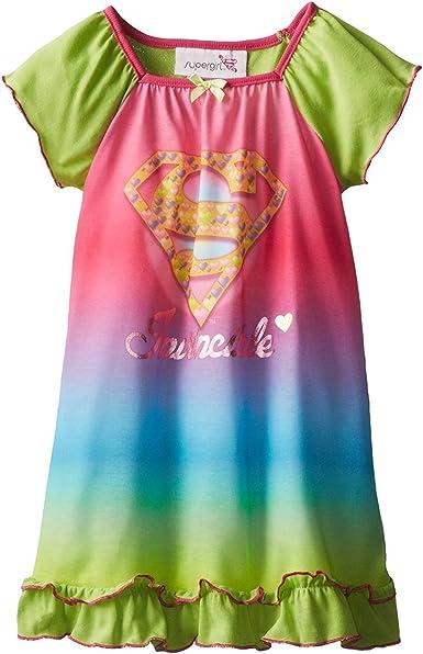 Supergirl Niñas Poly camisón pijama