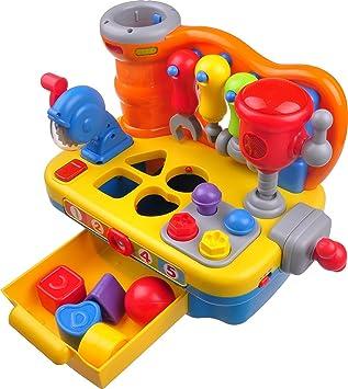 Think Gizmos Juguetes de Actividad para niños pequeños - Juguetes educativos interactivos para niños pequeños (Banco de Trabajo de Juguete): Amazon.es: Juguetes y juegos