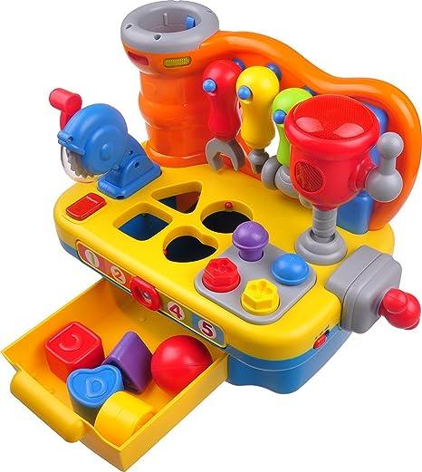Think Gizmos Giocattoli Di Attività Per I Più Piccoli Giocattoli Educativi Interattivi Per Bambini Piccoli Tavolo Per Costruttori Interattivo