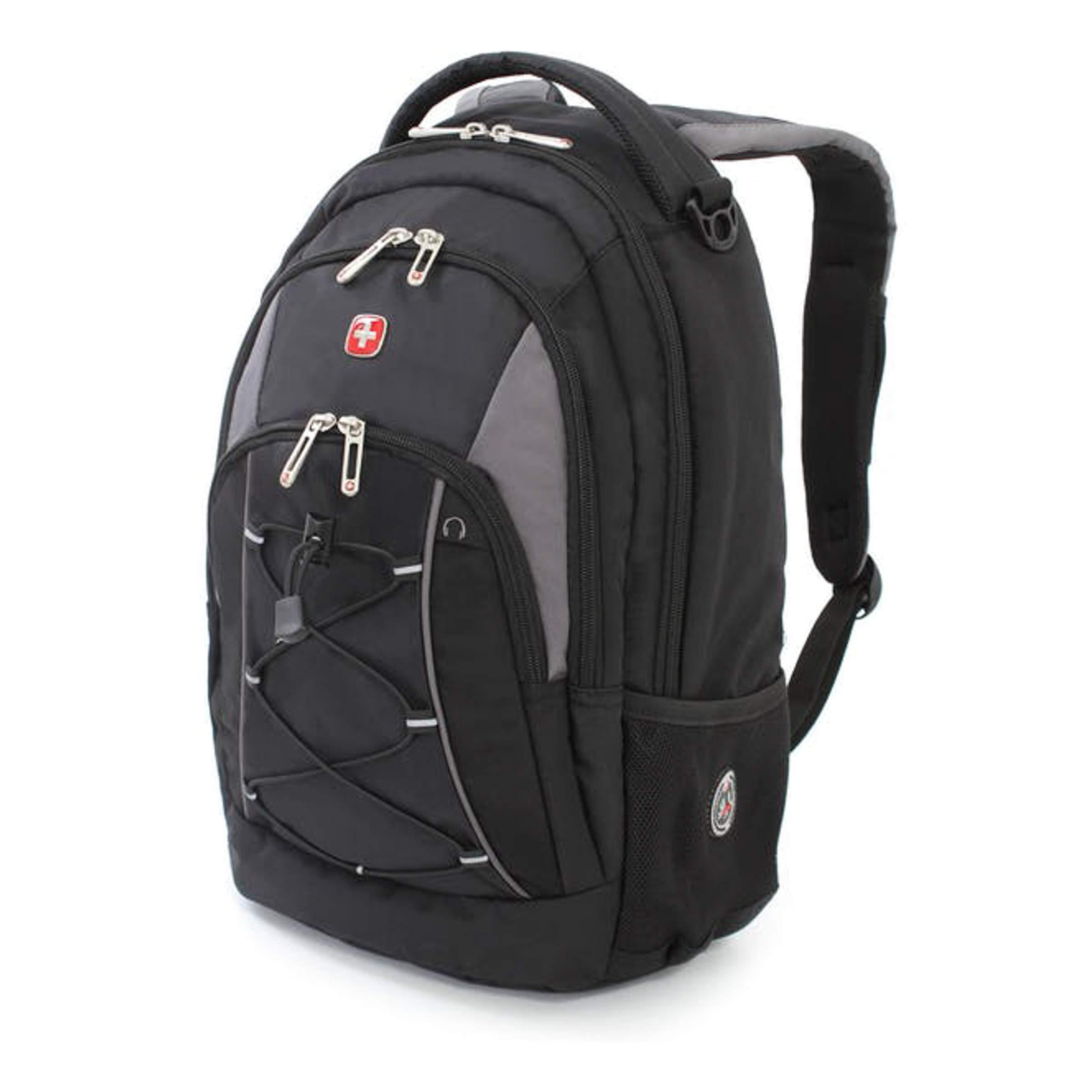 Swiss Gear Bungee Backpack, Black/Grey, One Size by Swiss Gear