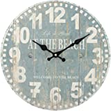 Amazon Com Oval Wall Clock Life Is Good Welcome To The