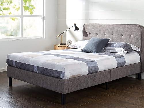 ZINUS Melodey Upholstered Platform Bed Frame / Mattress Foundation / Wood Slat Support / No Box Spring Needed / Easy Assembly