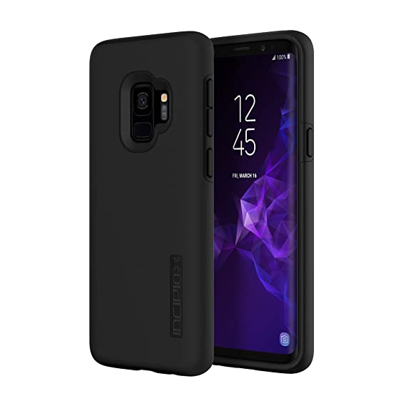 best authentic 58318 7d85a Incipio DualPro Samsung Galaxy S9 Case with Shock-Absorbing Inner Core &  Protective Outer Shell for Samsung Galaxy S9 (2018) - Black