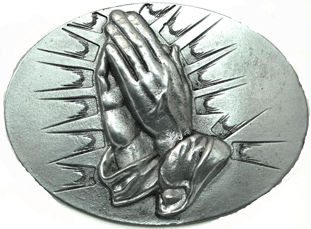 THE PRAYING HANDS PEWTER BELT BUCKLE Great American Products 00_VQTJIZHP_02