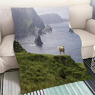 BEICICI Art Design Photos Cool Quilt Landmarks in Shanghai China Fun Design All-Season Blanket Bed or Couch