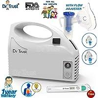 Dr Trust Piston Compressor Handy Nebulizer with Flow Adjuster (White)
