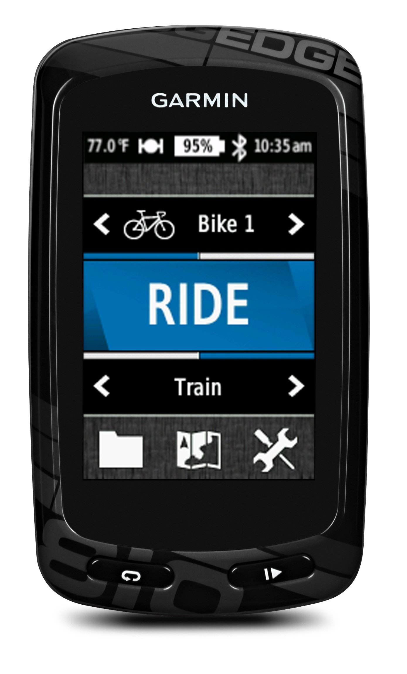 Garmin Edge 810 GPS Bike Computer with Heart Rate Monitor, Speed/Cadence Sensor and City Navigator Street Maps For Europe - Black product image