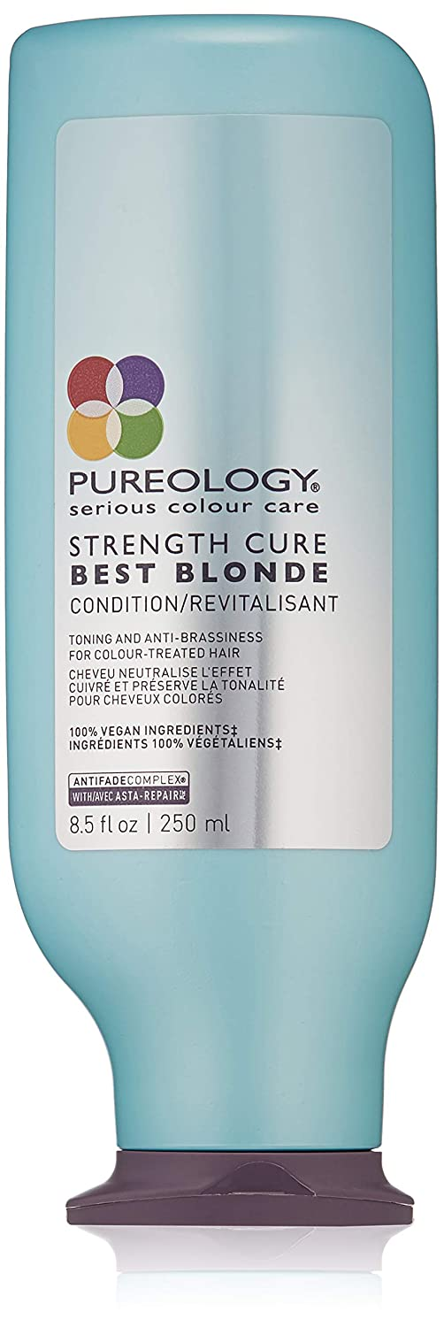 Pureology | Strength Cure Best Blonde Purple Conditioner | Restore & Tone | Sulfate-Free | Vegan