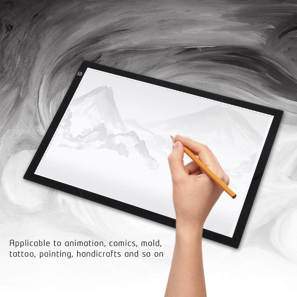 ZJchao A2 LED Tracing Board, Adjustable Brightness Light Box Stencil Drawing Board Table Copy Pad for Artcraft Animation Sketching Tattoo Transferring by ZJchao (Image #5)