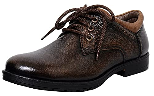 be48deaf8fad Zoom Men s Pure Leather Formal Shoes D-3561-Brown  Buy Online at Low ...